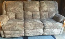This is a comfy couch with recliners on both ends, Very Clean, No Tears in fabric and comes from a non smoking & no dog home , Please call or email any questions , Cheers Liz