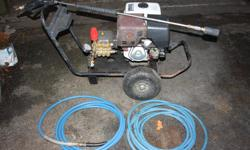 13hp commercial grade pressure washer with pressure gauge, turbo nozzle, 50' hose and brand new Comet piston pump ($500 value) rated at 40 gpm/3600 psi. Great machine but no longer needed. (Same type unit would sell for $1200 new)