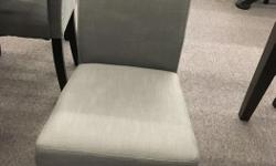 Stylish compact parsons dining chairs available in grey linen fabric. Brand new in box with warranty -$ 59 each (sold in sets of 2) Free delivery and set up in Greater Victoria area , Cowichan Valley or Nanaimo. Contact us via email or call us for more