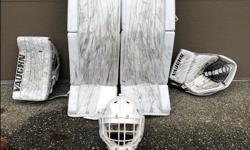 "Vaughn Ventus Pro Carbon Blocker & Trapper Vaughn Ventus Pro Carbon Pads 34"" + 2"" Mask has sold** All gear is just 1 year old"