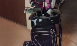 Great starter set, Ping Rhapsody 14.5 driver like brand new. 3, 5, and 7 woods. 3- W irons and putter. Bags like new comes with bag umbrella, balls and gloves. Drivers are listed between 120-140 online
