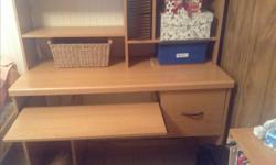 Like new computer desk compartments , slide out for typewriter drawer.