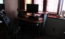 computer desk and chair $200.00 or best offer