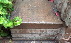 """Four concrete slabs for sale. The size is 16"""" X 16"""". I'm asking $4 for each concrete slab or take all 4 for $15."""
