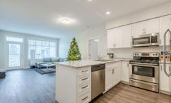 # Bath 1 Sq Ft 883 MLS 449192 # Bed 2 Contemporary 2 bedroom and den condo conveniently located in North Nanaimo near amenities and major bus routes. This light and airy open-concept living space features 9 foot ceilings. Quick and easy access to the