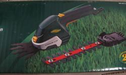 Yardworks cordless/rechargeable grass/shrub shears. In good condition, used twice, still holds good charge and works as new. $20.