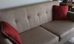 """""""Apartment"""" sized couch. Bought brand new and ended up not liking it once it was in my home. Paid over $1000 but asking $500 and open to offers. Willing to deliver. Please text or email only"""