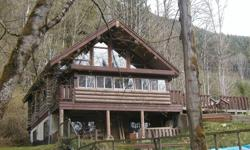 # Bath 3 Sq Ft 2300 MLS 407752 # Bed 2 Fabulous well built log home in very pretty country setting with lake glimpses & public access close by. Live off the grid. Dramatic open interior plan with exposed timbers, stained glass features, vaulted ceilings,