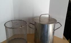 Stainless Steel Crab Cooking Pot with basket