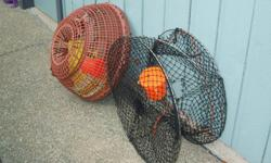 Igloo, also called Dome Crab Trap in good condition complete with 100 ft. line and bait bucket. The New Commercial SS Prawn Trap shown in the picture is $75 c/w bait bucket and in new condition. Communicate by email only; no phone.