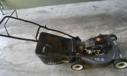 Craftsman Eager 1 gas lawnmower 4.0 Horsepower 20 in cut The pull cord needs to be replaced