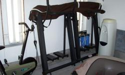 Cross-country skiing workout machine. Asking $15.00 obo. Folds up for easy storage under bed etc.