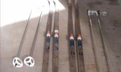 Fischer crown-Men's and Women's cross country skis Poles-Exel Nova in excellent condition, hardly used one set of down hill poles-no skis included