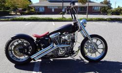 Custom Harley Davisdon softail.no time to ride anymore Twin Cam with low Km BDL belt primary drive RC Component wheels and matching pulley and rotors Avon Venom tires with roughly 200 km on them Hawg halters front caliper Vance and Hines exhaust American