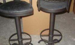Custom built wrought iron and glass furniture. Immaculate condition, extremly elegant. All pieces include custom tempered glass. A one of a kind set that would be a magnificent accent to any home. Pieces may be bought as small sets as listed below or all