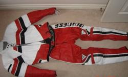 Dainese motorcycle suit (size 48) with Schoeller gloves for sale. This is a small size women's suit.