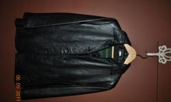 Size small (sizes 4-6) black danier leather jacket for sale. Perfect condition. No longer fits.