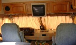 """2000 DAMON DAYBREAK-28'-CHEV RV CLASS A Model-2740 Lenght- 28' Width- 98"""" Height W/ AC- 11'3"""" Chev 454 V-8 Overdrived transmission, cruise, tilt, power steering, patio awning, rubber roof, solid light oak wood cabinet doors, in floor ducted furnace,"""