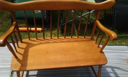 DEACONS BENCH FOR SALE IN EXCELLENT CONDITION, LIGHT OAK . IN COURTENAY