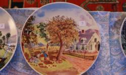 Collection of 8 decorative plates, all different. Currier & Ives - America Homestead Edition Ten dollars each OBO.