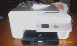Dell 966 Photo Printer all in one. Works great. Price negotiable. Inkjet printer, does photocopies, scans, faxes. Has the photo card reader in the front for printing right from your camera memory card, and USB photo stick. Comes with software and printer