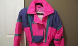 "1 pce. ""SUNICE"" SKI SUIT ** excellent condition ** outershell 100% poly WATERPROOF Insulated with BITERMICA ** small in volume .. BIG on WARMTH NEW paid $269 +tax Sell $45"