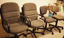 Desk Chairs for sale.   With Arm Rests (x2): $20 each or $35 for both   Without Arm Rests (x2): $10 each or $15 for both   or Take all 4 chairs for $40 FIRM