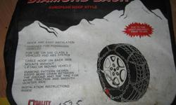 These are some of the best tire chains for ease of installation, but too small for P235 R15 truck tires. Fit small car 15inch or 14 and 13 tires. used once on old car, in storage ever since. located in Duncan. please call to pick up 250 732-0210