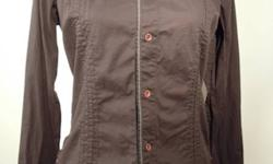 In excellent condition, long sleeve black with brown buttons, really cool diesel shirt, from smoke free home.
