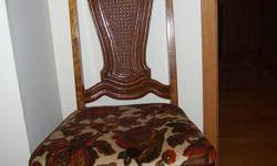 5 dining room chairs. very sturdy high-back. Upholstered seats. Excellent shape. 25.00 each. Call 519-352-1674 25.00 each