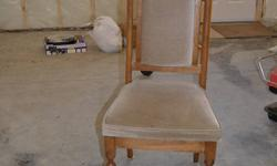 4 side chairs and 2 captain chairs for sale.  Fabric seats and backs.