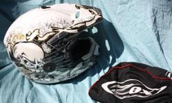 ZOX white dirt bike helmet large Excellent shape $170 new