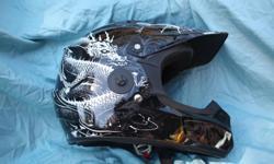 Fox extra large dirt bike helmet- black dragon New $190