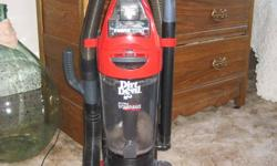 One year old dirt devil vacuum. Has all the attachments and works well on hardwood, laminate and carpets. Bag free compartment with an easy to clean filter with great suction. contact Britney at 250-551-5701