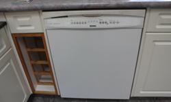 Kenmore dishwasher, white