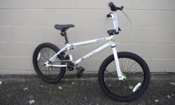 We currently have a DK Deka bmx on consignment at Island Cycle. The bike features a 25 : 9 gear which gives great clearance for riding park, or trals. Its also sporting a 3 piece crankset, and 20 X 2.125 tyres front and rear. Feel free to come take a