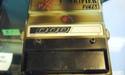Dod Punkifier pedal FX76. Battery cover missing. Located in Duncan. Stock#52651-2 B-OY Please Note: We are NOT the shop on the TransCanada highway; we are located directly behind on Whistler St. Please find a Map and Directions at