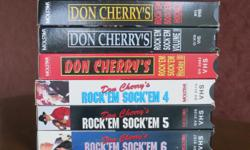 Don Cherry Rock'Em Sock'Em Hockey Six VHS Tapes Volumes 1 thru 6