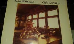 CAFE CAROLINA; THE BEST OF DON WILLIAMS VOLUMES II, III, & IV; YELLOW MOON; GREATEST HITS; & NEW MOVES. NO MAJOR DAMAGE TO ALBUM COVERS, A FEW EDGE RUBS PERHAPS; 2 STILL HAVE CELLOPHANE SHRINK WRAP. CONTAINS SONGS SUCH AS: AMANDA; TULSA TIME; RAKE AND