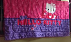 Hello Kitty flat and fitted sheet, 2 pillow cases and a comforter. Sheets never used. Clean, no smoking, no pets. Located in Campbell River