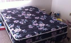 CALL OR TEXT ONLY - 2508084097 I'm selling my double bed with the frame and 3 wheels. I have the fourth wheel holder, but the wheel is missing as you can see in the second picture, thought I had a new home for it until last minute. Great condition from a