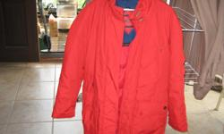 Ladies large coat in great condition for sale. Nylon outer.