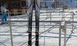 Elan Amphibio 127-78-107 tip-tail, 167cm length womens shape ski,rocker,light weight. binding incl used 2 seasons Well taken care of. Great for intermediate skier.