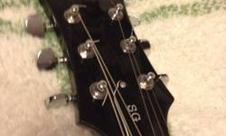 Left-handed epiphone SG. Currently strung for a right-handed player, but could easily be switched back. Sound great, good for a beginner or intermediate player. This ad was posted with the Kijiji Classifieds app.