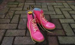 Never worn. Purchased recently. Retails for $180. Pink/yellow patent leather. Size 8 US / 39 EU. Extra set of laces.