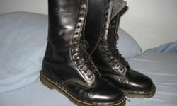 Oringinal Doc Martin boots for sale.  Black leather, air cushion sole, in great shape.  Size 10.  Hardly worn as were too small.  Hopeing they would stretch.  Paid over $125.  Selling for $70.  Call or e-mail for more info.  (Delhi)  519-582-0231.