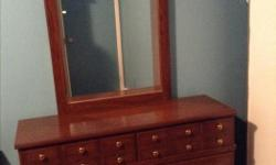 Maple Dresser is very heavy Pick up only Dimensions of the dresser Height 32 inches Width 15 inches Long 46.5 inches