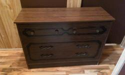 wooden bedroom dresser, three drawers, nice condition....Located in Chemainus