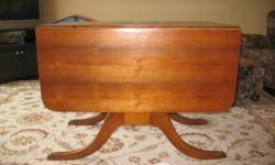 """Duncan Phife drop leaf table. 25""""x40"""" with leaves down and 40'x60"""" with leaves up. Excellent condition"""