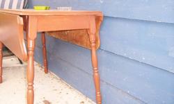 Wooden, drop leaf table, brown